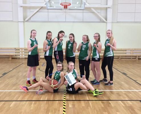 7. klassi korvpallitüdrukud
