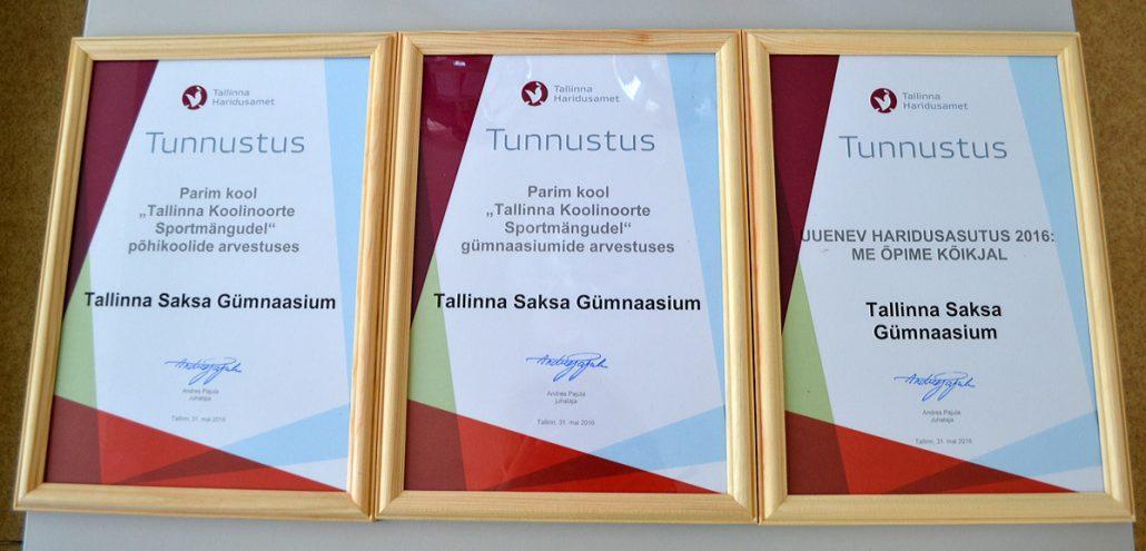 haridusameti tunnustus 2016