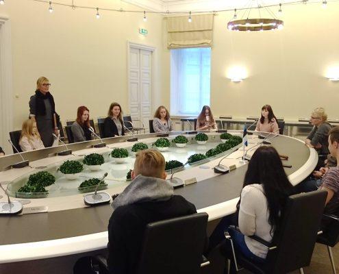 Välispoliitika kursuse väljasõiduistung Stenbocki majas