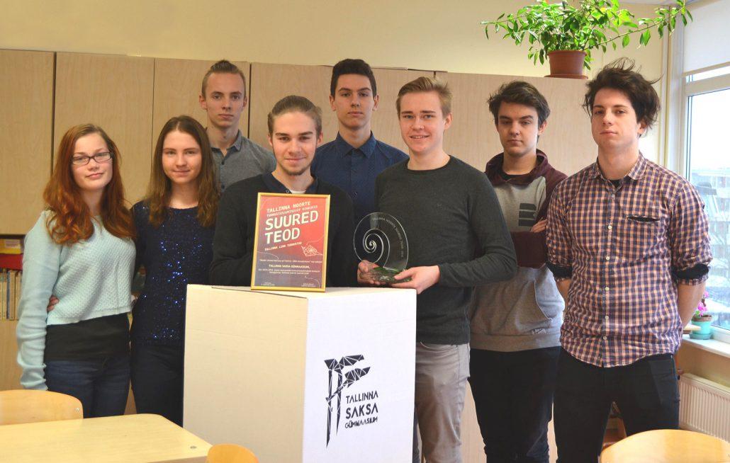 Tallinna noorte suured teod 2016 - tunnustus MUNOT korraldajatele