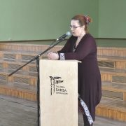 Kirjanik Aidi Vallik emakeelepäeval meie koolis