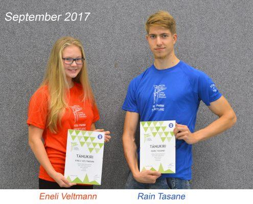 Kuu parim sportlane - september 2017