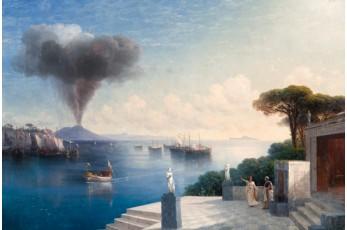Vaade Vesuuvile päev enne vulkaanipurset (1885. Õli lõuendil. Eesti Kunstimuuseum)