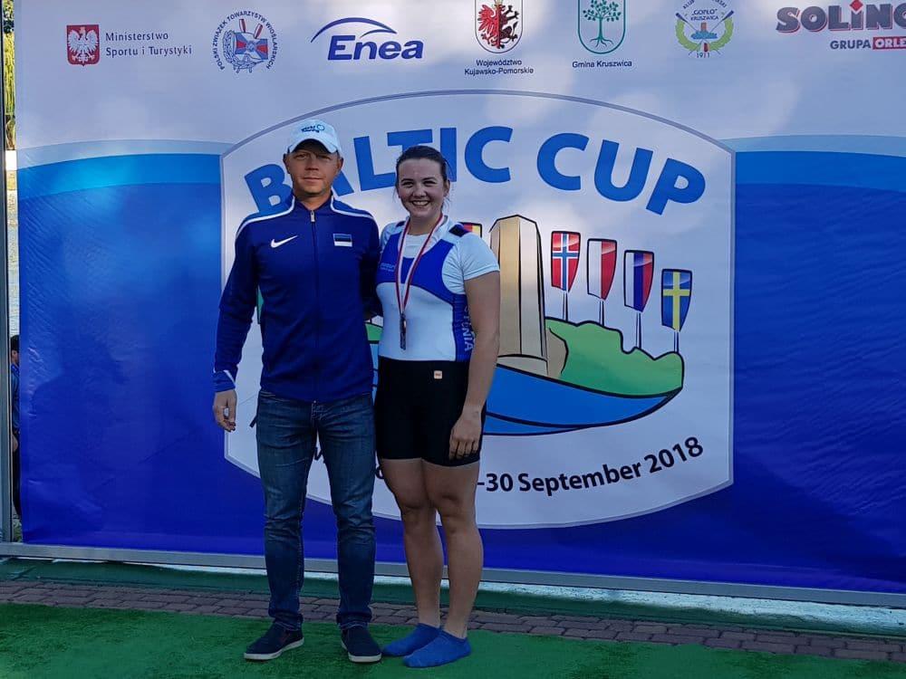 Liisa-Marie Lääne koos treeneri Aleksei Lipintsoviga. Foto: Roman Lutoškin