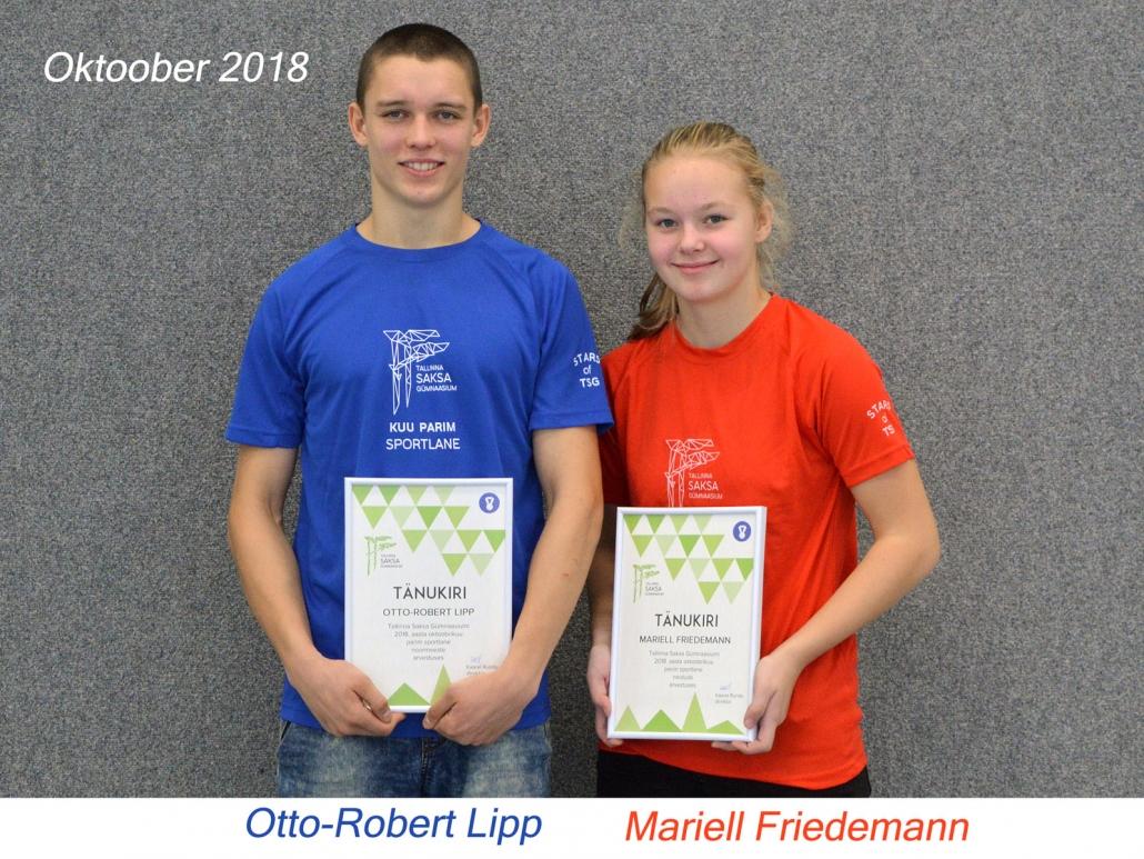 kuu parim sportlane - oktoober 2018