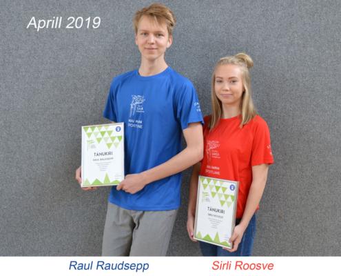 kuu parim sportlane - aprill 2019