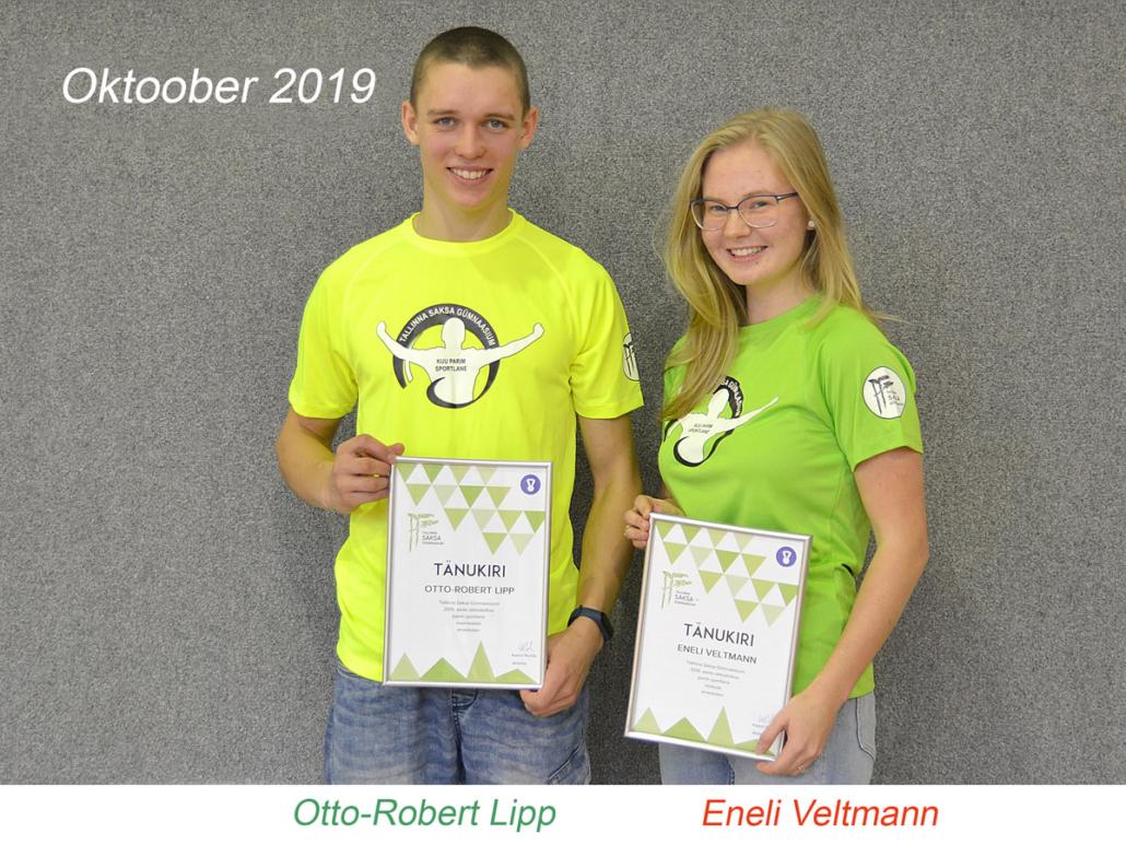kuu parim sportlane - oktoober 2019