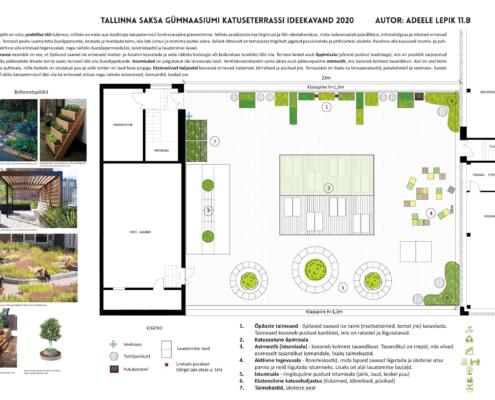 katuseterrassi ideekavand - Adeele Lepik