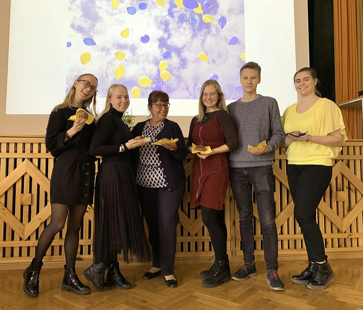 rootsi keel õpilased ja õpetaja